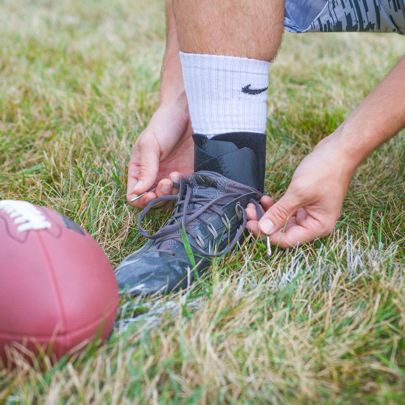 Our wrap-around ankle brace is perfect for a variety of athletes and sports because it fits inside of your shoe!