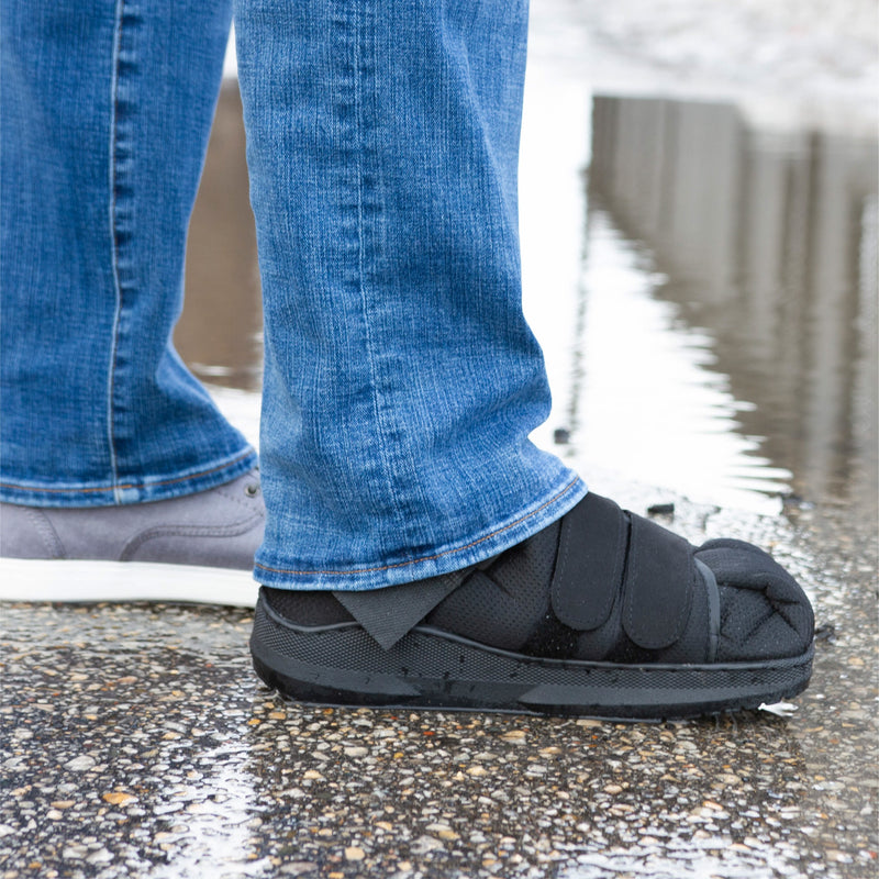 our shoe protects your feet in all weather