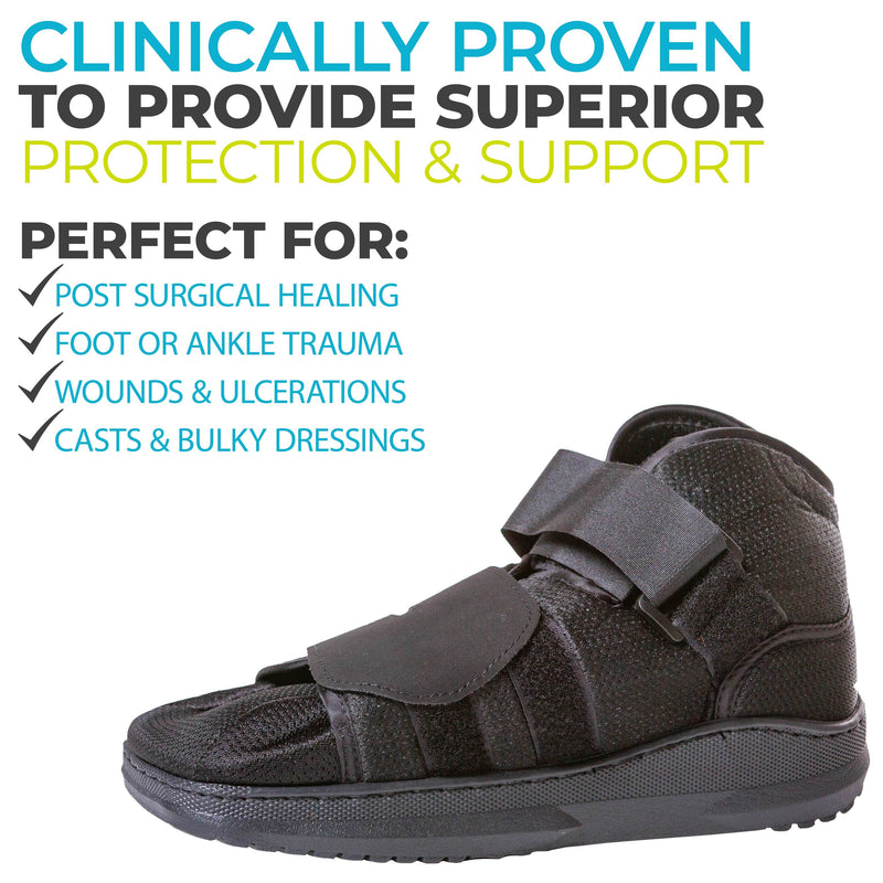 walking shoe with closed to for after surgery or injury