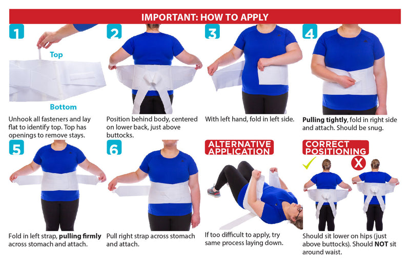 The instruction sheet for the womens back brace is easy to apply while laying down