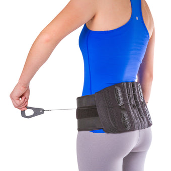 Adjustable lower back and spine pain lumbosacral corset brace