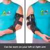 The cubital tunnel syndrome brace can be worn on your left or right arm