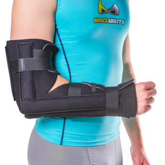 Elbow and forearm post-surgery immobilizer and fracture splint