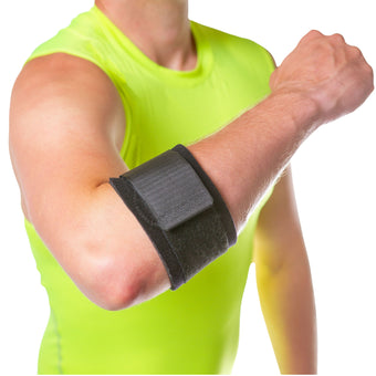BraceAbility counterforce tennis elbow brace is a lightweight option for lateral epicondylitis