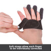 Soft straps allow each finger to be individually corrected
