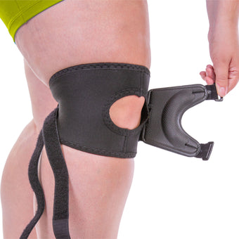 Plus size XXL knee brace for patella support for working out, walking and exercising with excess knee fat
