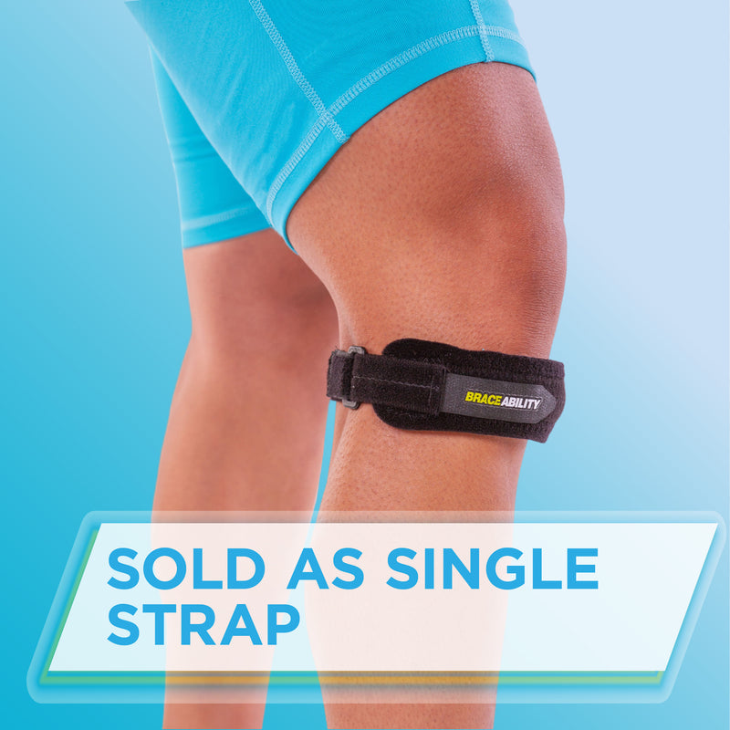 the patellar tendon knee strap is sold as a single strap
