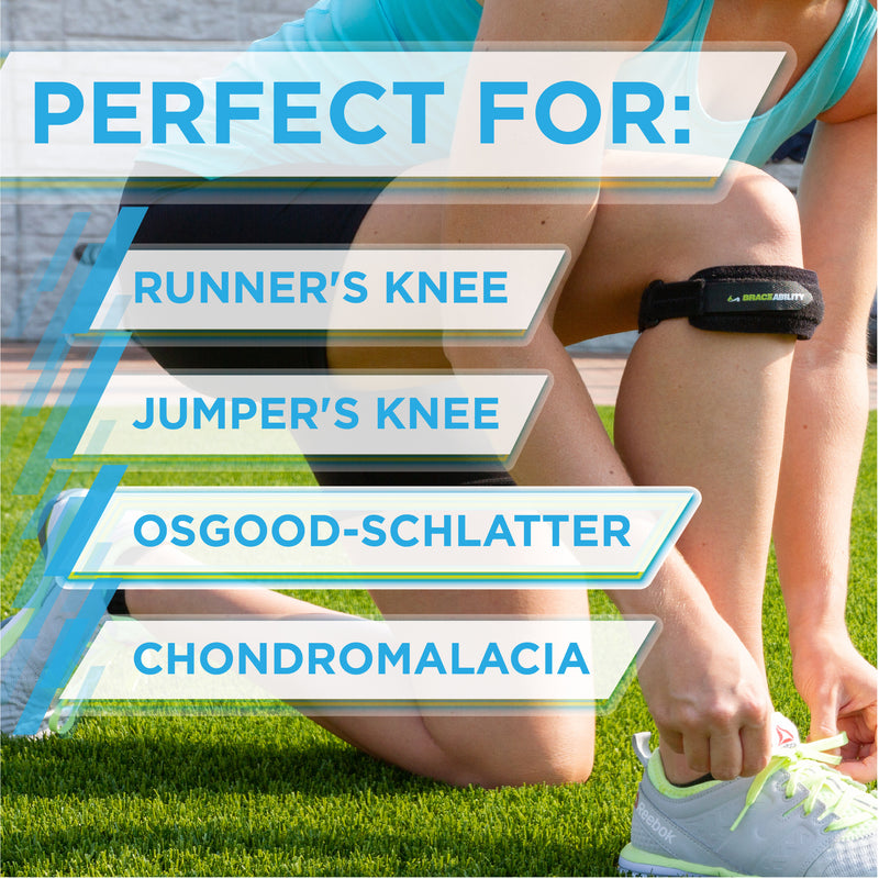 The chondromalacia knee brace is great for runner's knee, jumper's knee and osgood-schlatter