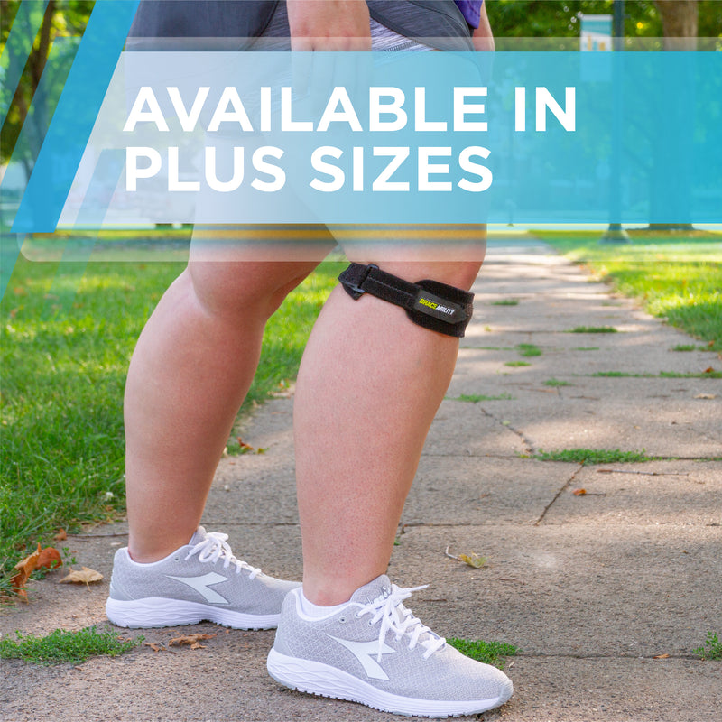 The extra large patellar tendon support strap comes in plus sizes up to 2XL