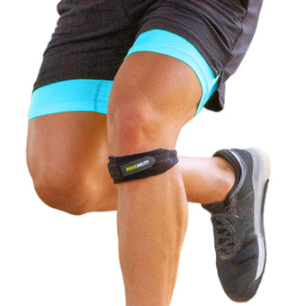 Adjustable patella band for runner's knee, jumper's knee, and osgood-schlatter in adults