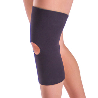 Neoprene open patella and open back athletic knee sleeve