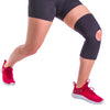 Neoprene material provides warmth and moderate elastic compression to your sore knee