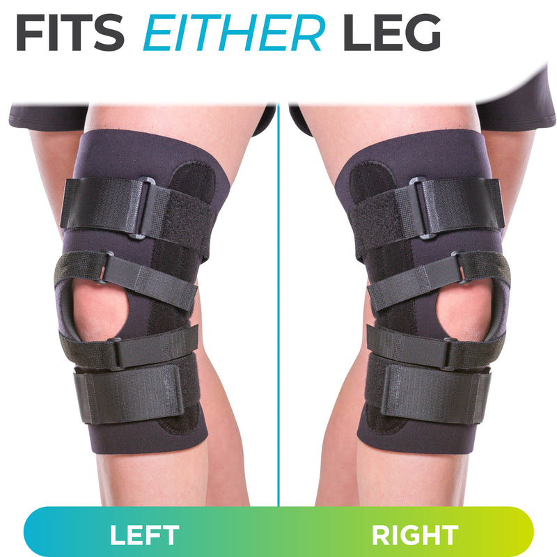 j brace for lateral support on left or right leg