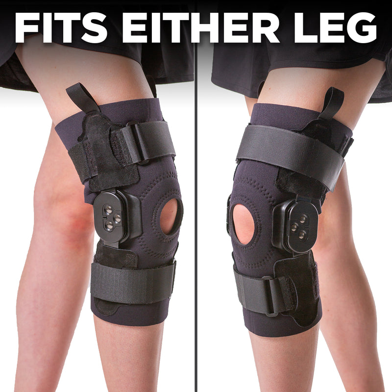 you can wear the medical knee brace on either leg
