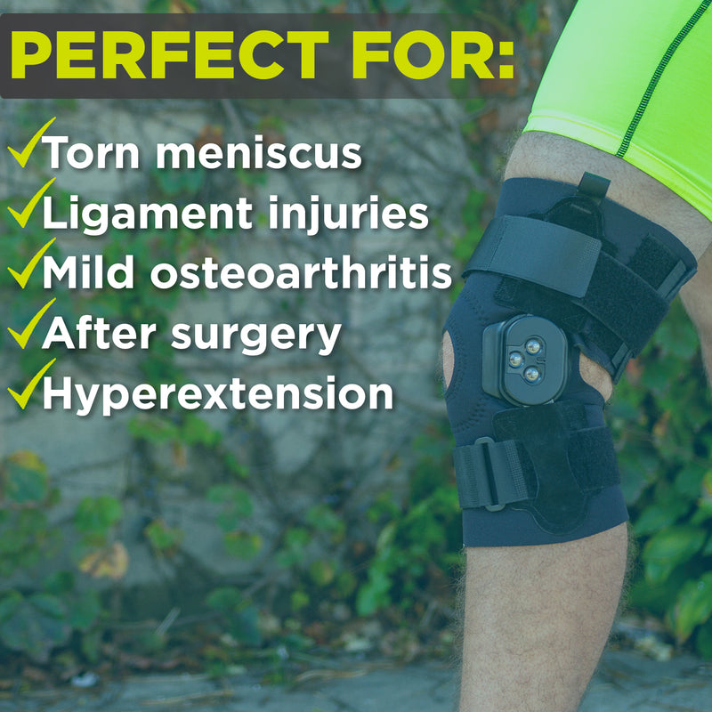 prevent your knee from locking with this ligament injury knee support