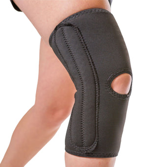 The BraceAbility Women's Knee Sleeve is made with a breathable material and comes in plus sizes up to 4XL
