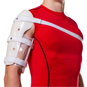 The BraceAbility Sarmiento Brace works as a humeral fracture splint