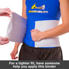 for a tighter fit have someone help you apply the abdominal hernia binder