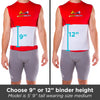 nine inch and twelve inch height option for hernia repair binder