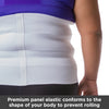 paneled elastic conforms to your body like a girdle in the abdominal hernia support