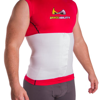Medical post surgical abdominal compression binder for recovery after surgery