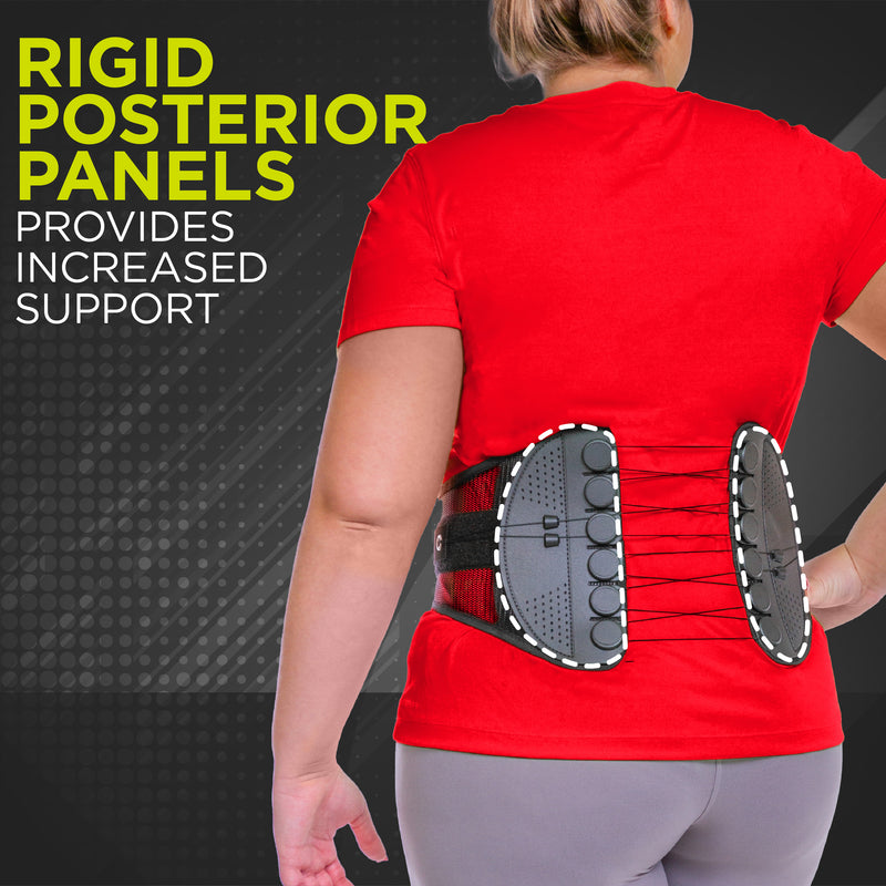Low-profile posterior panel conforms to your body permitting a greater range of motion