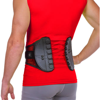 Golf back brace for tennis and golfing low back pain and strain