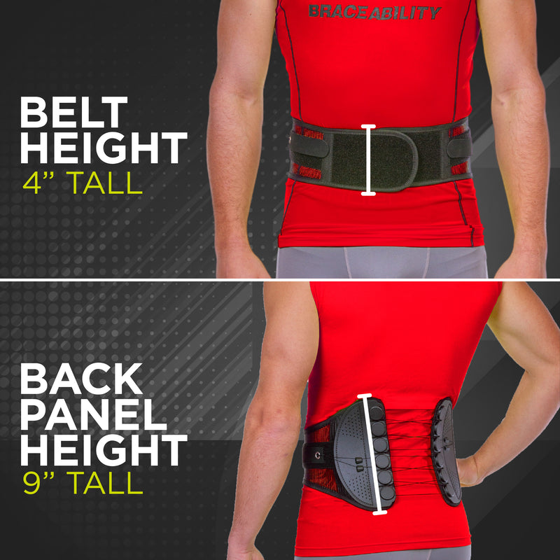 Sports back brace for lumbar support is not bulky and comfortable to wear