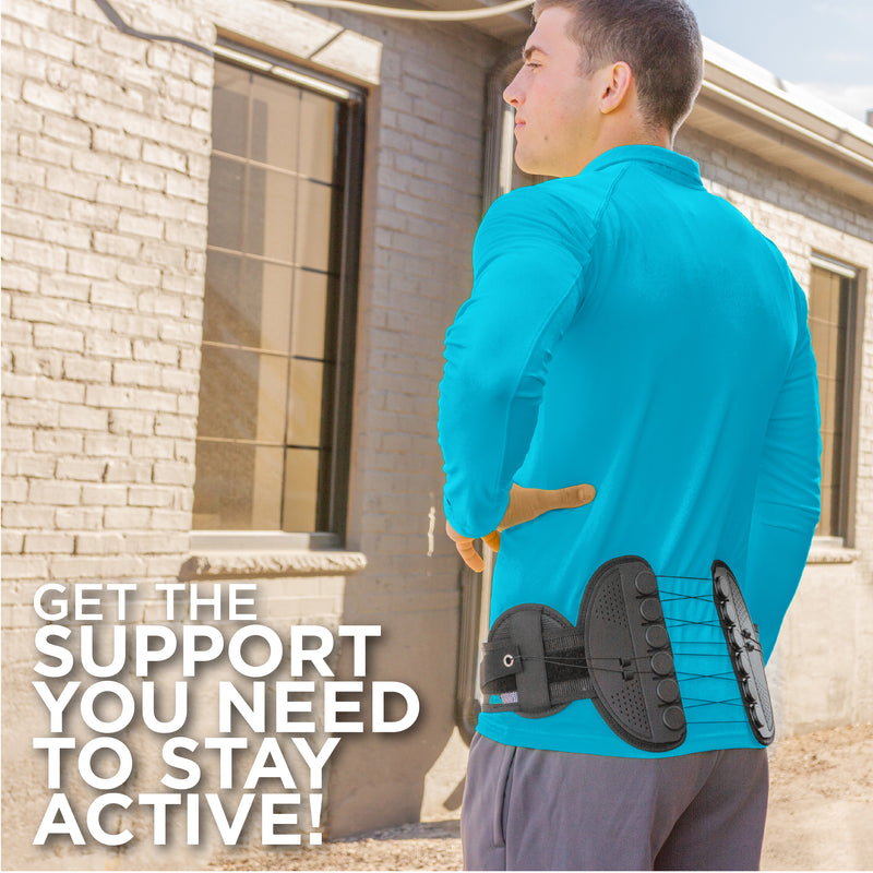 Hip support belt offer stabilization from you L5 vertebra to your coccyx bone
