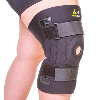 Big knee sleeve brace for large legs with patella support
