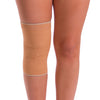 The stretchy knee brace hugs your leg, keeping it in place and evenly compressing your knee and the surrounding area.
