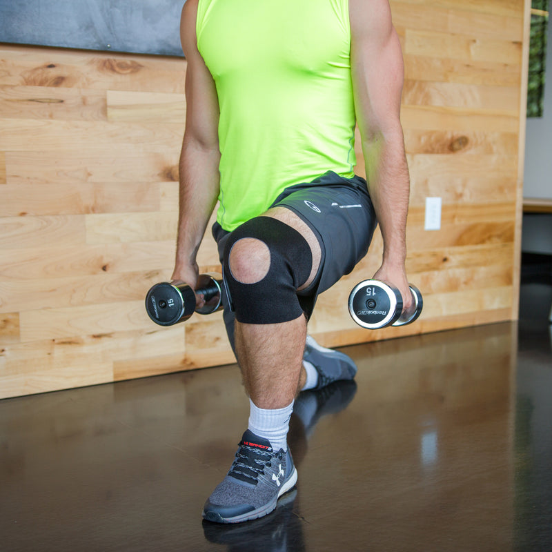 Use this athletic knee support for running, basketball, Crossfit, and more