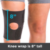 Arthritis knee brace is 8 inches tall