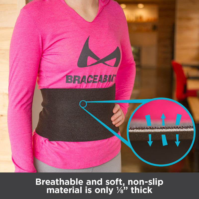 Breathable and soft, non-slip material is only 1/8-inch thick