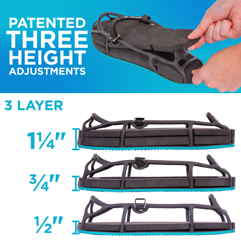 Our shoe lifts for uneven legs can be adjust for one half inch of lift or one full inch