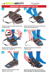 How to put on the post op shoe instruction sheet