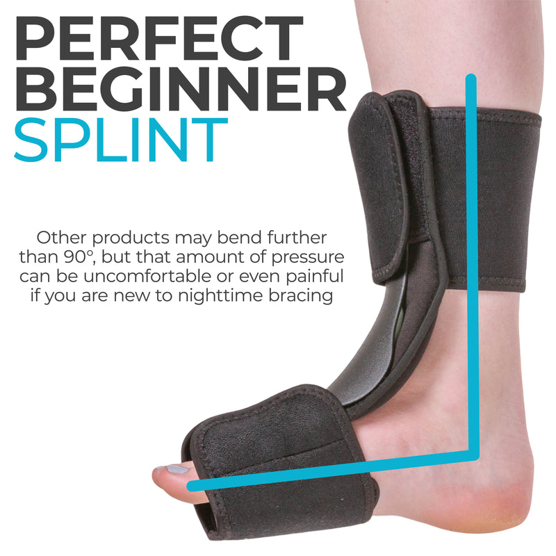 its lightweight nature makes this the perfect starter splint for plantar fasciitis
