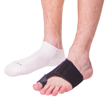 Toe strap soft taping treatment for turf toe and bunion pain