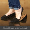 our shoe inserts for supination should be worn with socks for the best results