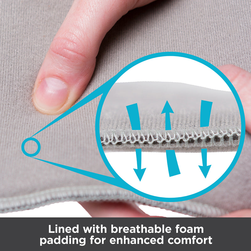 Dorsiwedge night splint is lined with breathable foam padding for enhanced comfort