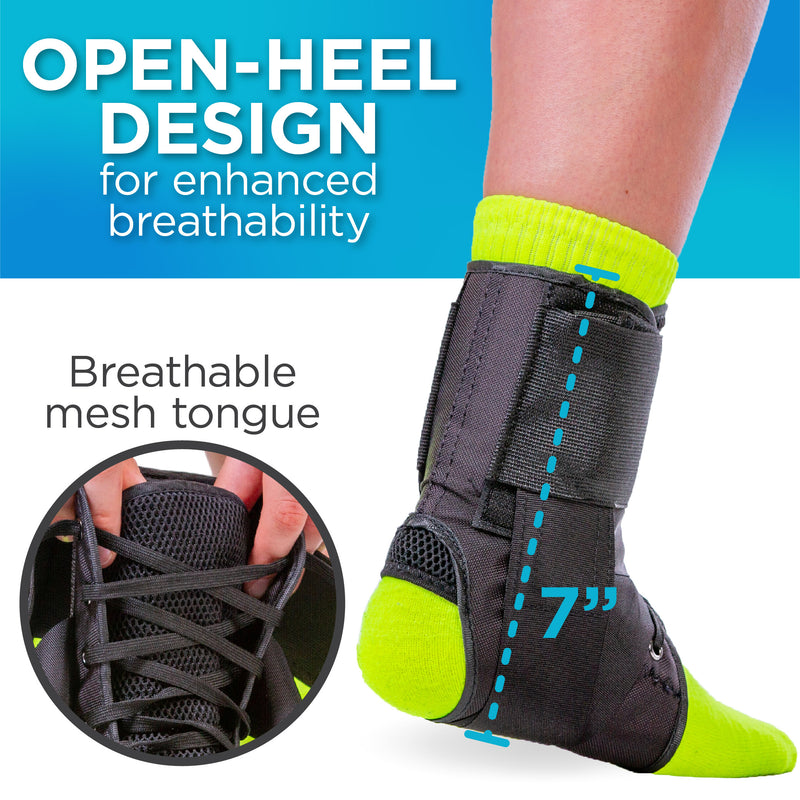 Wearing a figure-8 lace up brace can help stop eversion ankle sprains