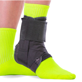 lace-up ankle brace for arthritis, lateral pain, high sprains, and instability