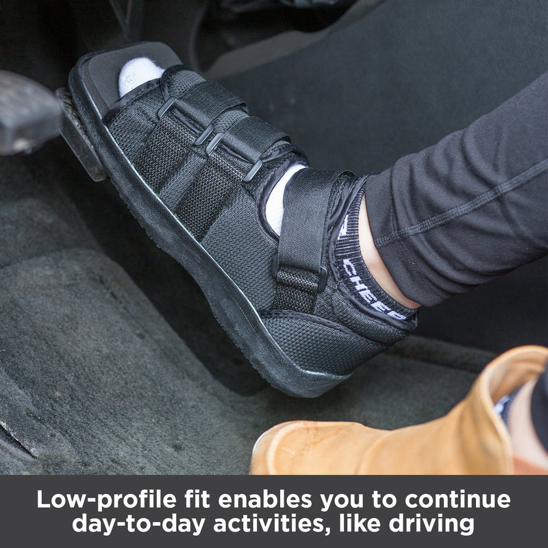 Low-profile fit enables you to continue day-to-day activities, like driving