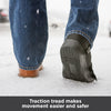 Traction tread on sole of surgical medical shoe makes movement easier and safer