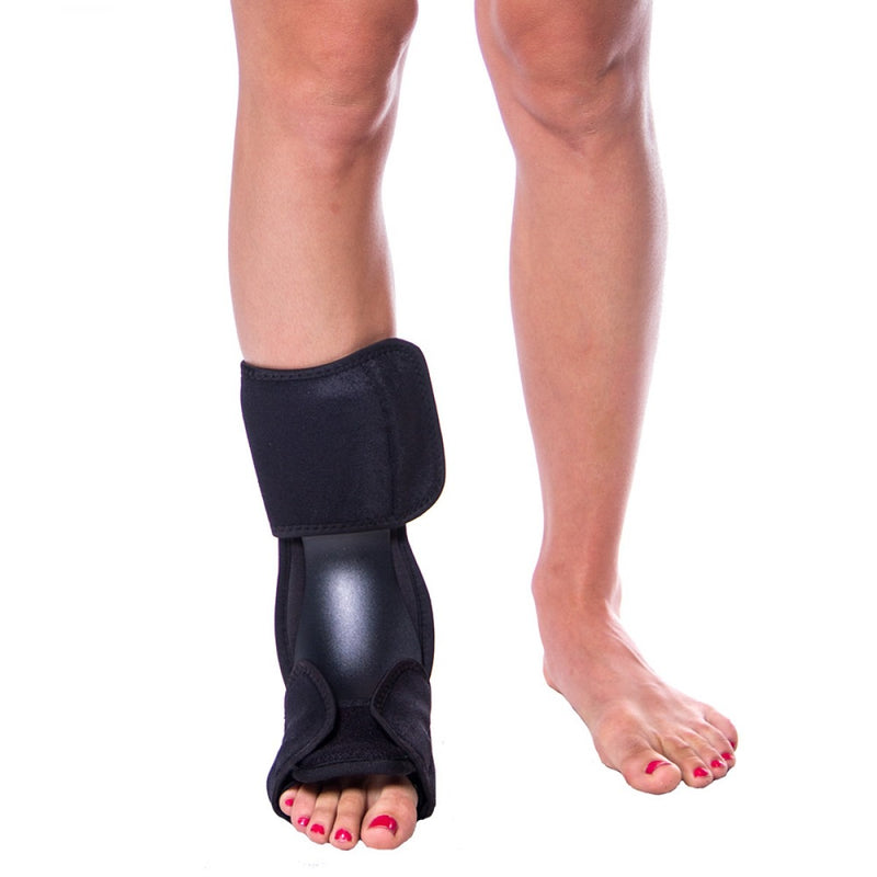 The foot splint shell is composed of durable, high-density polyethylene
