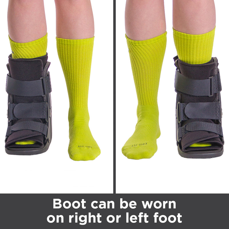 Medical walking boot can be worn on your right or left foot