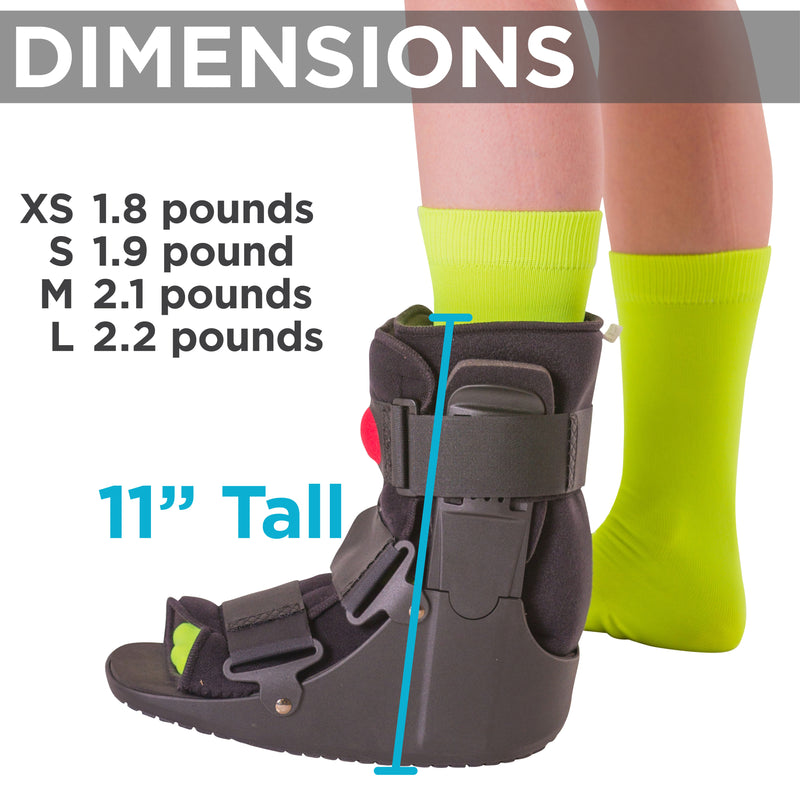 ca2328ea1c the air cam walker is about 11 inches tall and 2 pounds. To apply this  orthopedic walking boot ...
