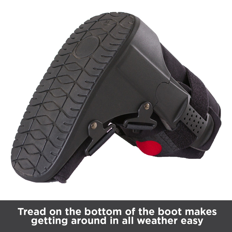 Tread on the bottom of the boot makes getting around in all weather easy