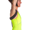 Back straightening brace loops around shoulders preventing bad posture