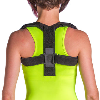 Posture corrector upper back straightener and shoulder support brace